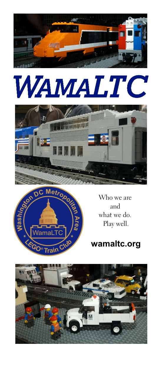 [TGV, RDC] WamaLTC [bi-level coach] [seal] Who we are and what we do. Play well. wamaltc.org [Wmata at work.]